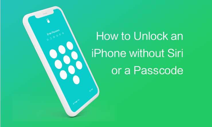 Cómo desbloquear un iPhone sin Siri o un código de acceso