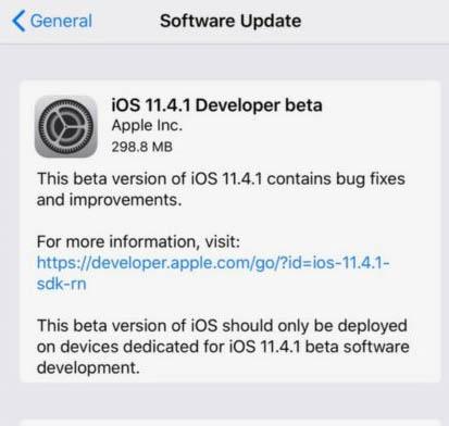 Descargar iOS 11.4.1 Beta 1