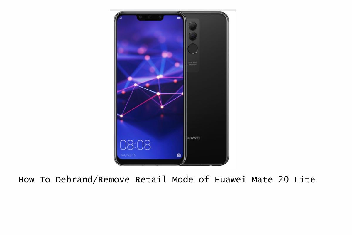 Cómo desmarcar o eliminar el modo minorista de Huawei Mate 20 Lite