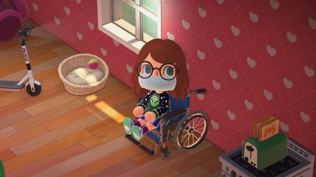 Wheelchair in Animal Crossing