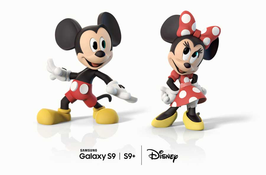 Se agregaron emojis de Mickey y Minnie Mouse AR al Galaxy S9
