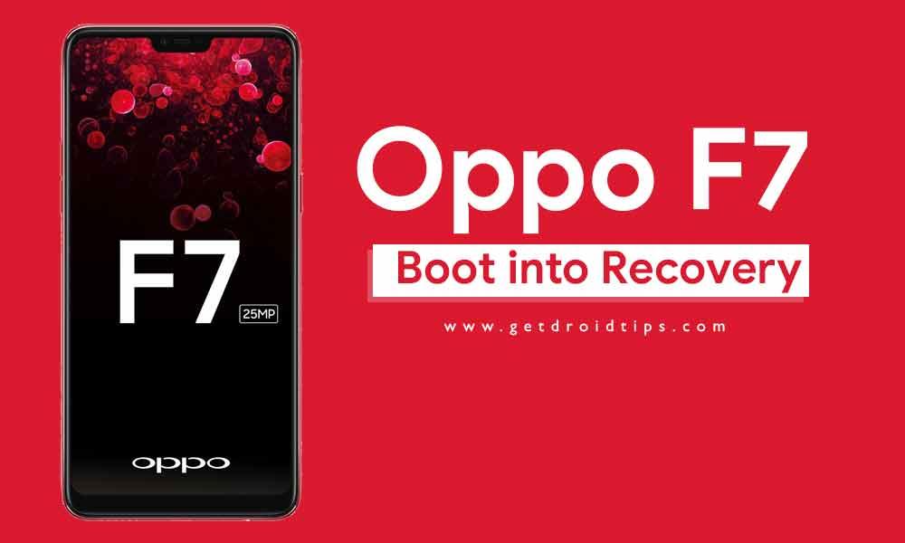 Cómo iniciar en modo de recuperación en Oppo F7 (Stock / Personalizado)