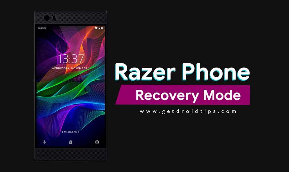 Cómo iniciar en modo de recuperación en el teléfono Razer (Stock / Personalizado)