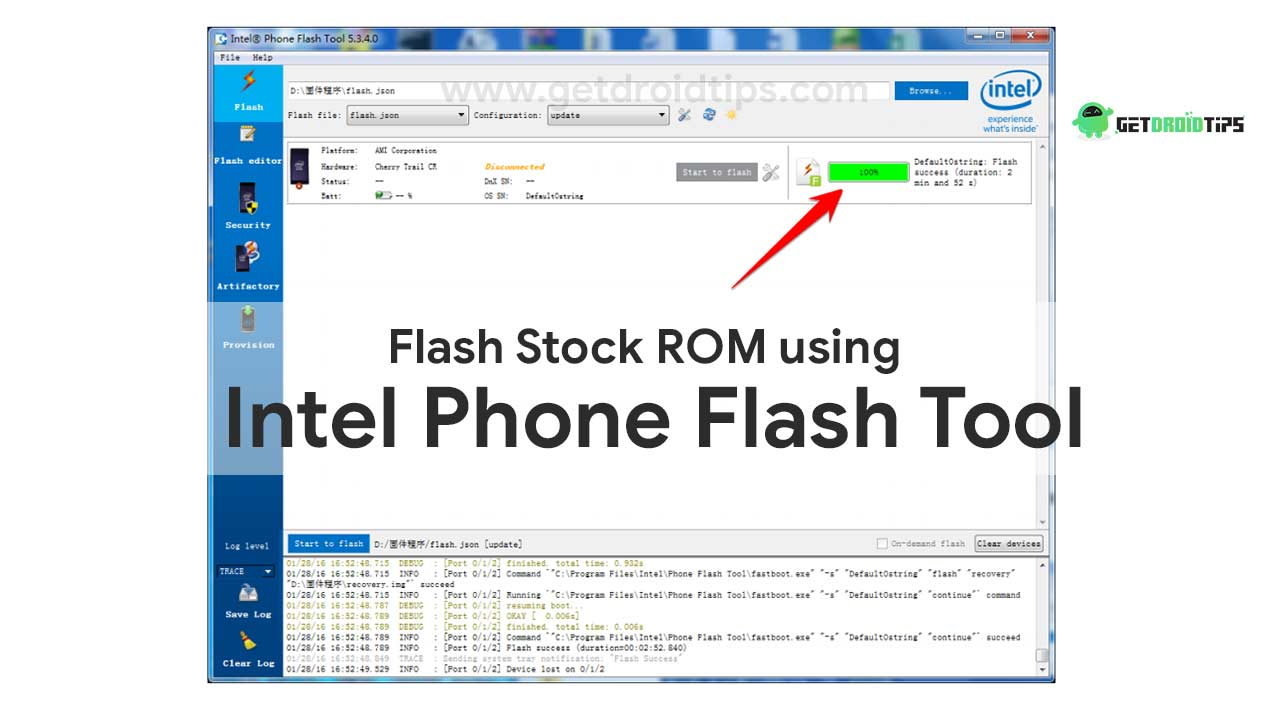 How to Install Stock ROM using Intel Phone Flash tool