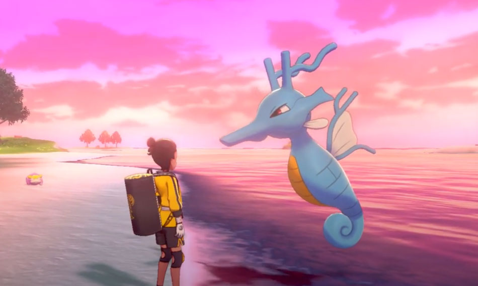 Kingdra in Pokemon Sword and Shield Isle of Armor