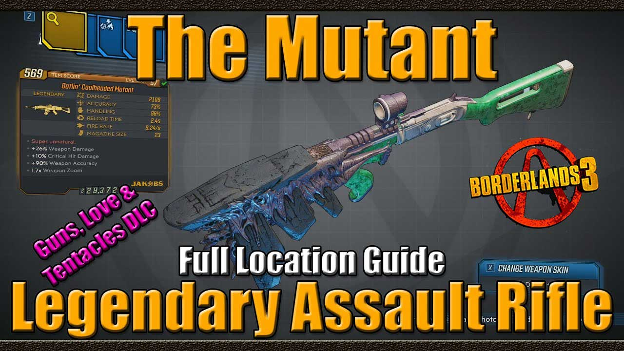 How to Get Mutant Legendary Assault Rifle on Borderlands 3