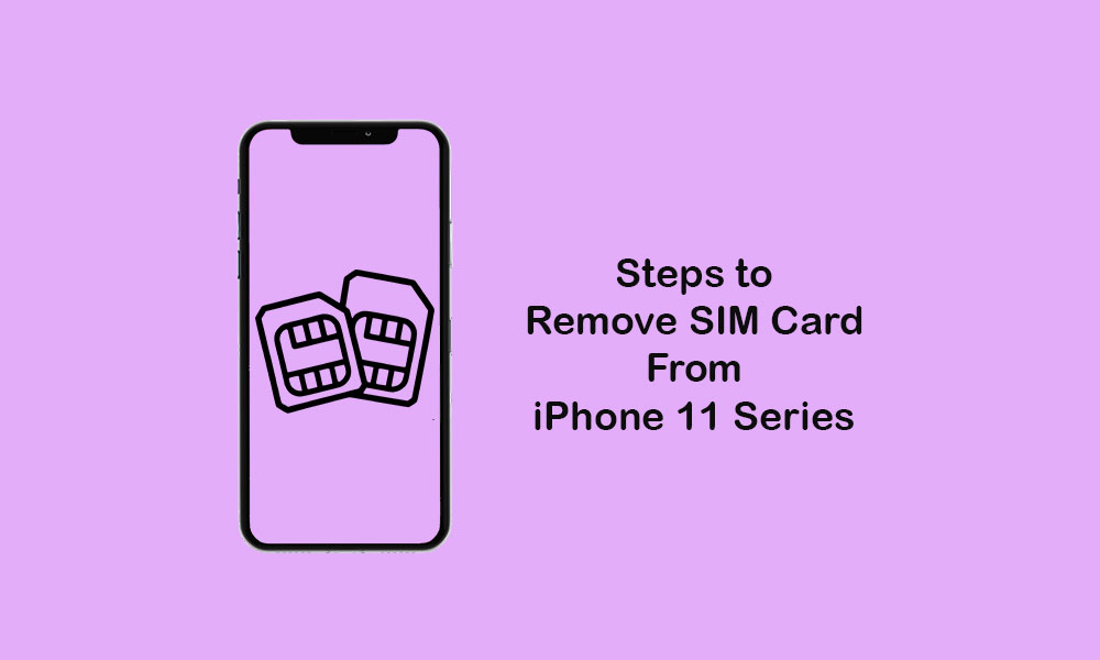 How to remove SIM card from iPhone 11, 11 Pro, and 11 Pro Max