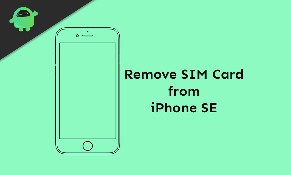 How to remove SIM card from iPhone SE