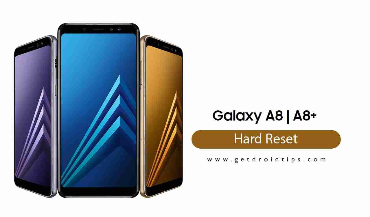 Cómo realizar un restablecimiento completo en Galaxy A8 plus y Galaxy A8