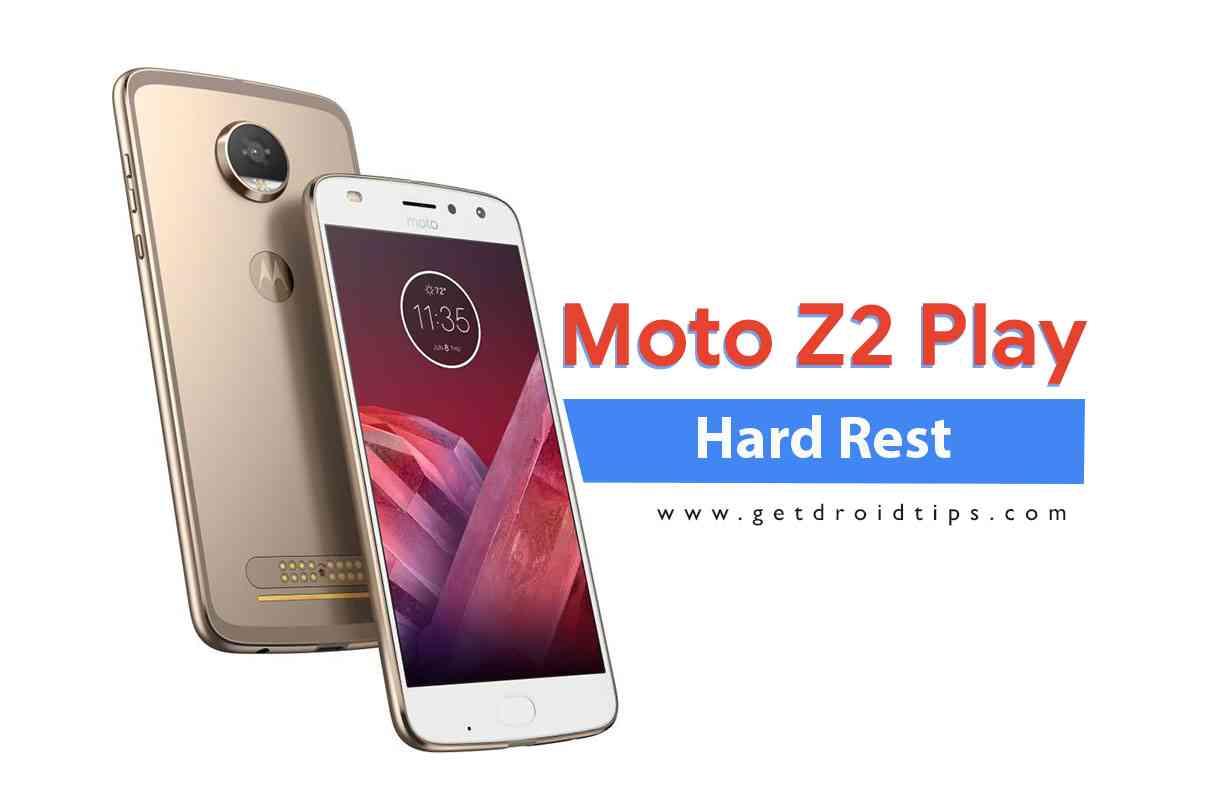 Cómo realizar un restablecimiento completo en Moto Z2 Play