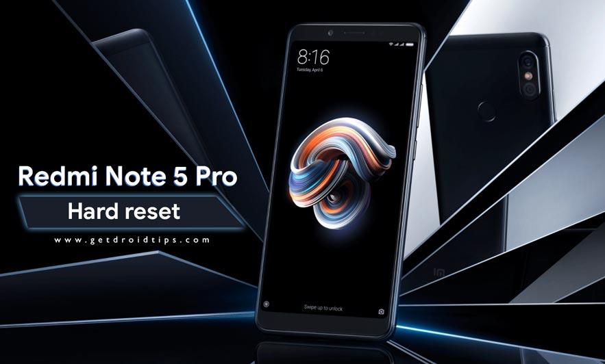 Cómo realizar un restablecimiento completo en Redmi Note 5 Pro