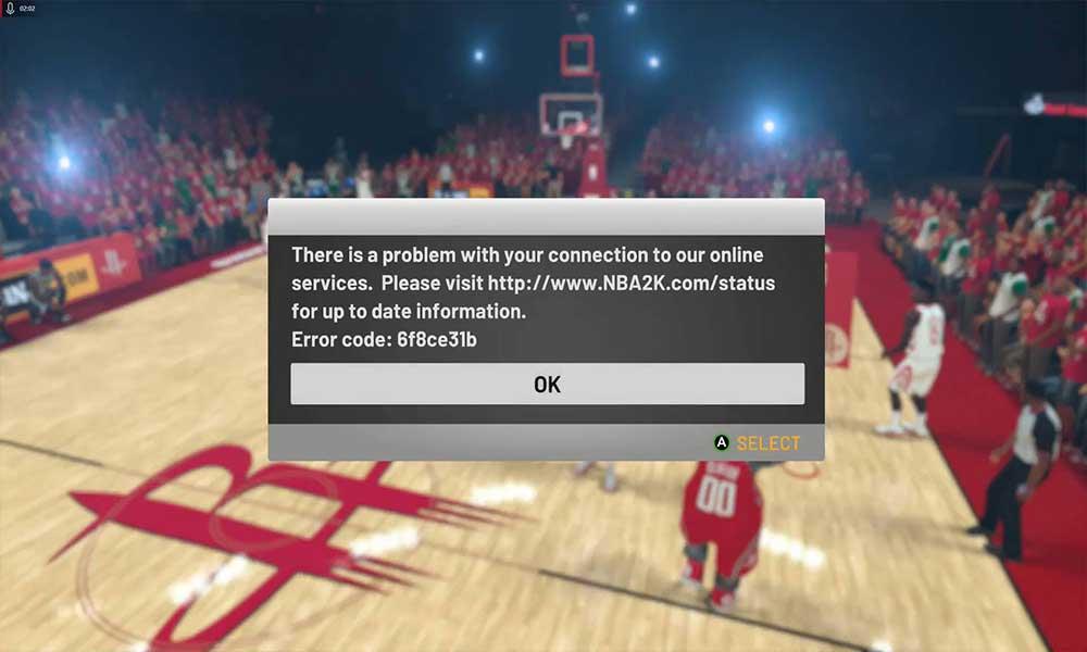 Cómo reparar el código de error NBA 2K20 6f8ce31b