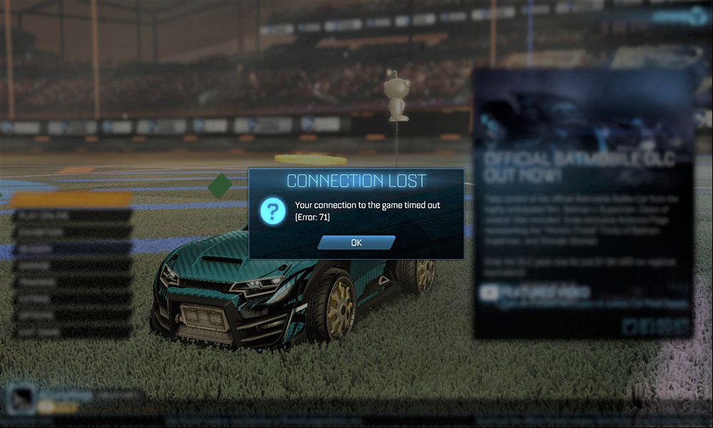 How to Fix Rocket League Error 71?