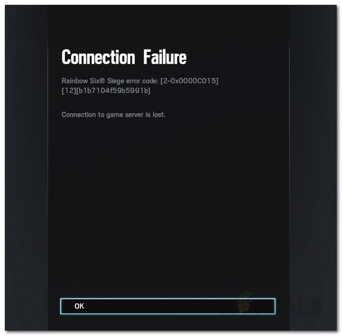 Error de conexión de Rainbow Six Siege