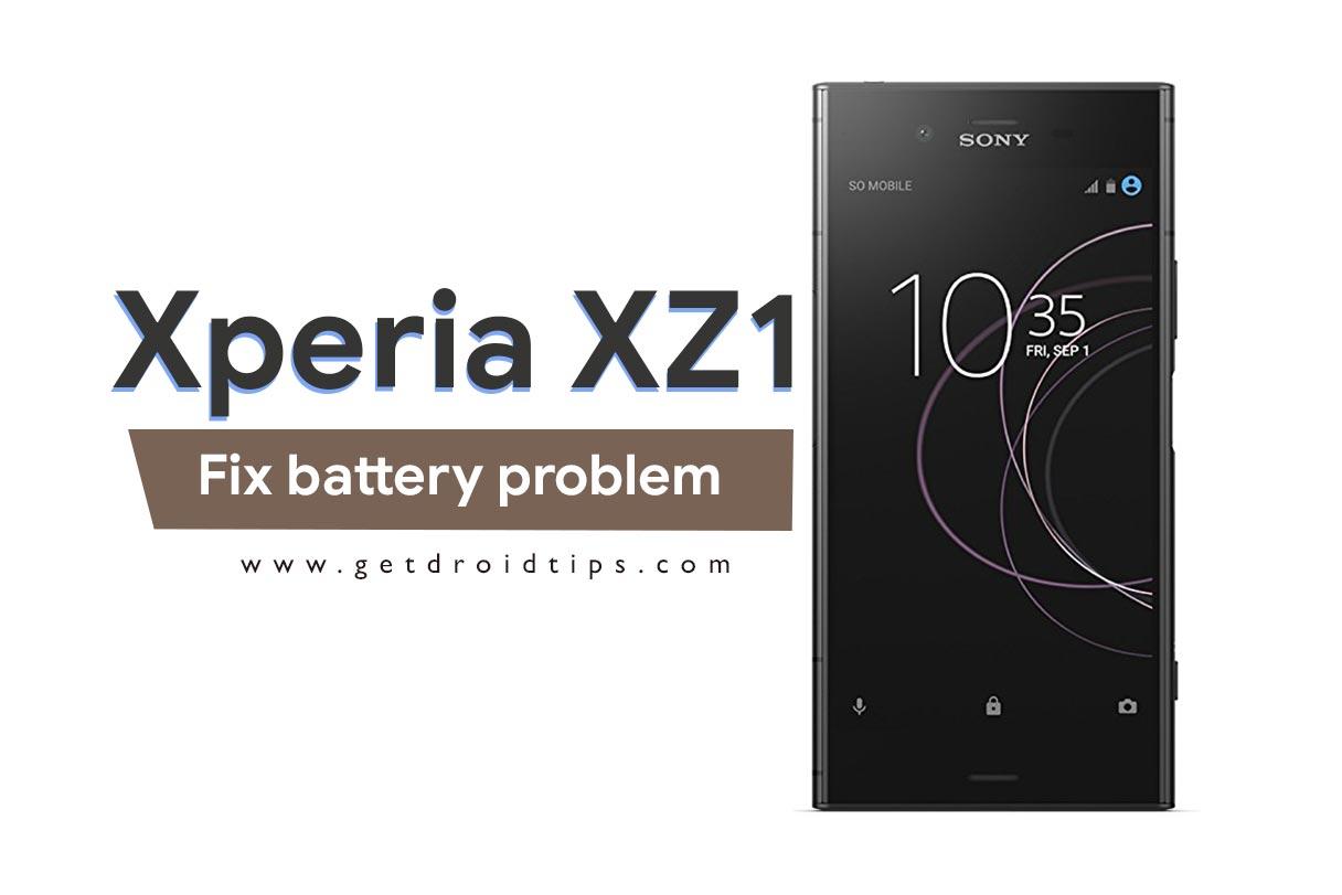 Como reparar el problema de batería Sony Xperia XZ1
