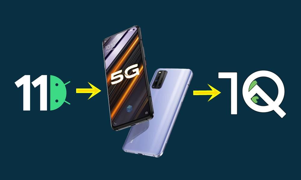 Vivo iQOO 3 rollback android 10