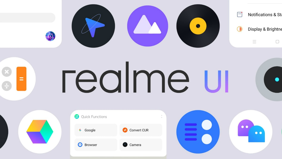 Realme UI interface