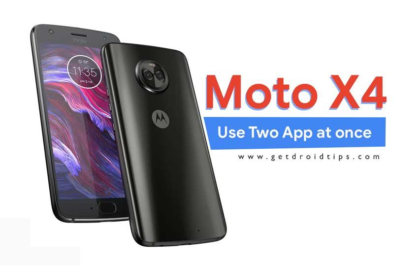¿Cómo usar dos aplicaciones a la vez usando Moto X4?