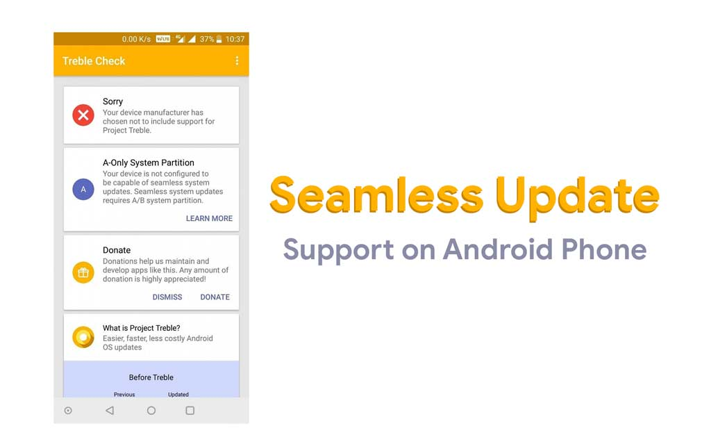 How to check Seamless Update support on Android devices