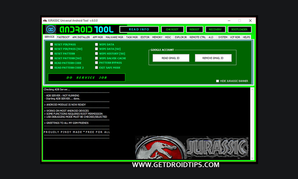 Download Jurassic Universal Android Tool - Latest Version Online