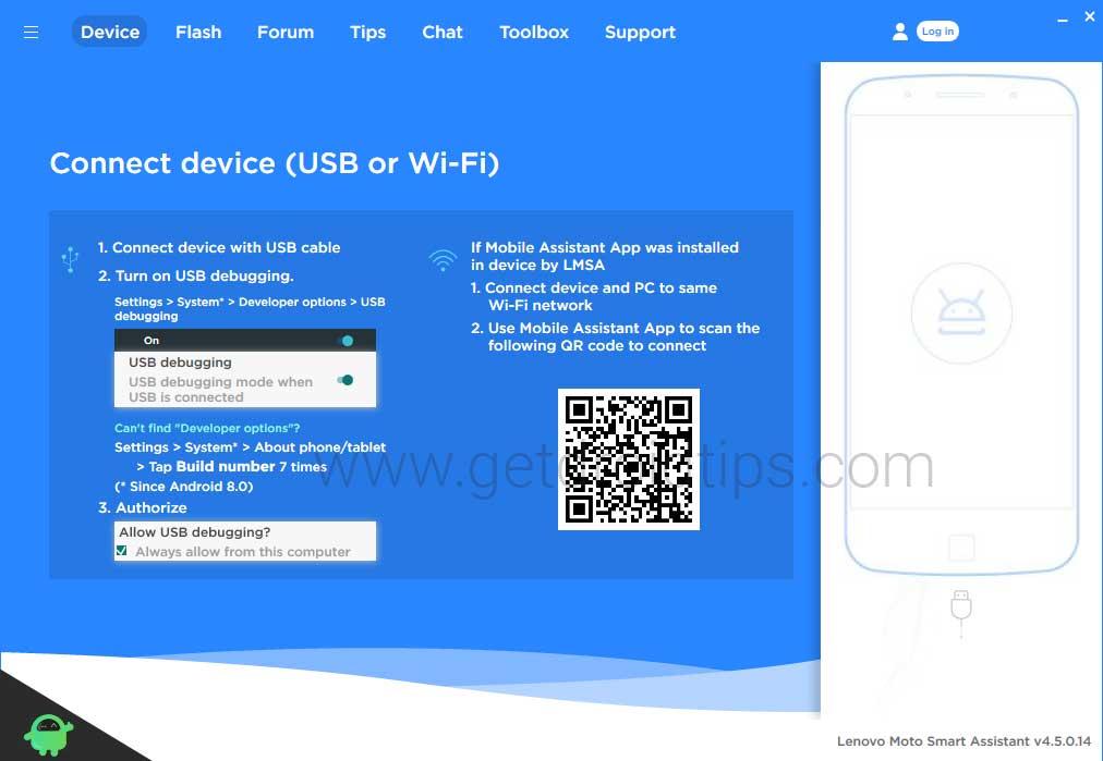 Descargar Lenovo Moto Smart Assistant v4.5.0.14 - Última herramienta Flash 2020