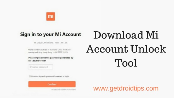 Descargar Mi Account Unlock Tool - Eliminar FRP / Cloud Verification de Xiaomi