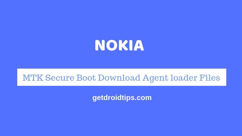 Download Nokia MTK Secure Boot Download Agent loader Files [MTK DA]