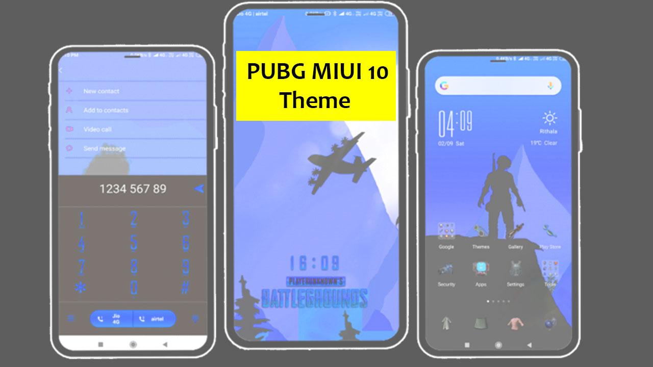 Download PUBG MIUI 10 Theme for Xiaomi devices