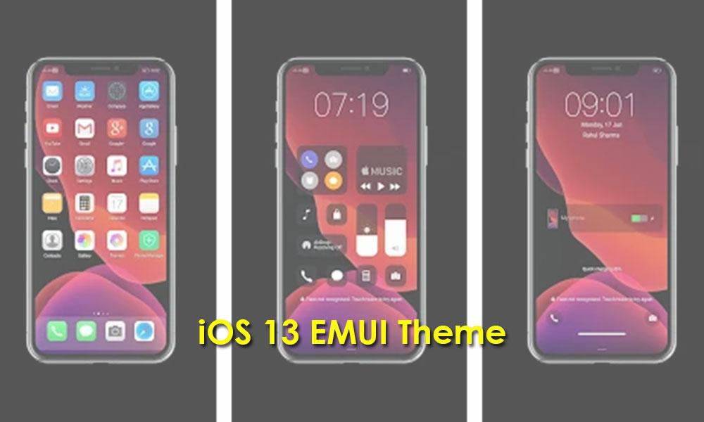 Descargar iOS 13 Theme para dispositivos EMUI