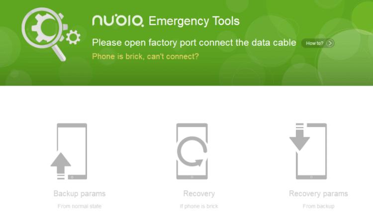 Descargar Nubia Emergency Tool