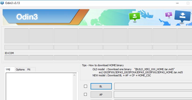 Descargue la última versión de Odin v3.13.1 al firmware basado en Samsung Experience 9.0 Flash
