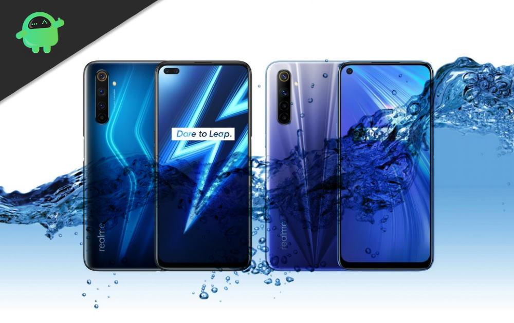 Is Realme 6 or 6 Pro Waterproof Smartphone?