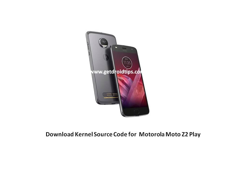 El código fuente del núcleo del Moto Z2 Play ya está disponible oficialmente