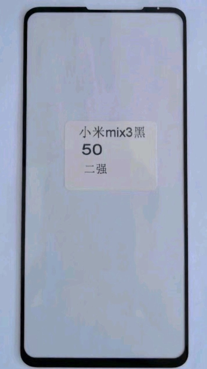 Mi Mix 3 Front Panel Leaks