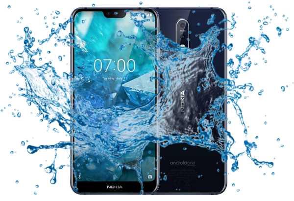 Is Nokia 7.1 Waterproof and Splashproof test