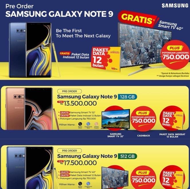 Precio Galaxy Note 9