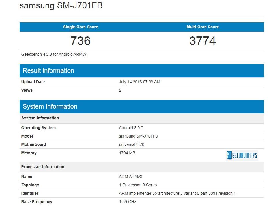 Galaxy J7 Nxt Android 8.0 Actualización Oreo