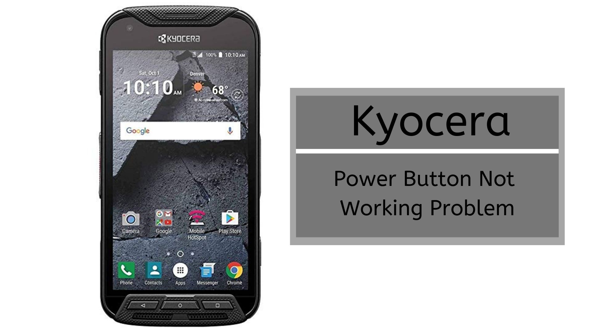 Guide To Fix Kyocera Power Button Not Working Problem