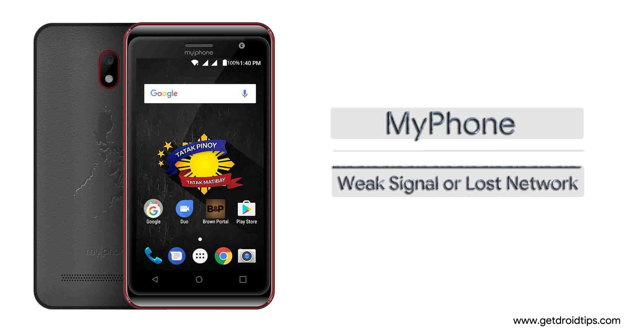 Guide To Fix MyPhone Weak Signal Or Lost Network Issue