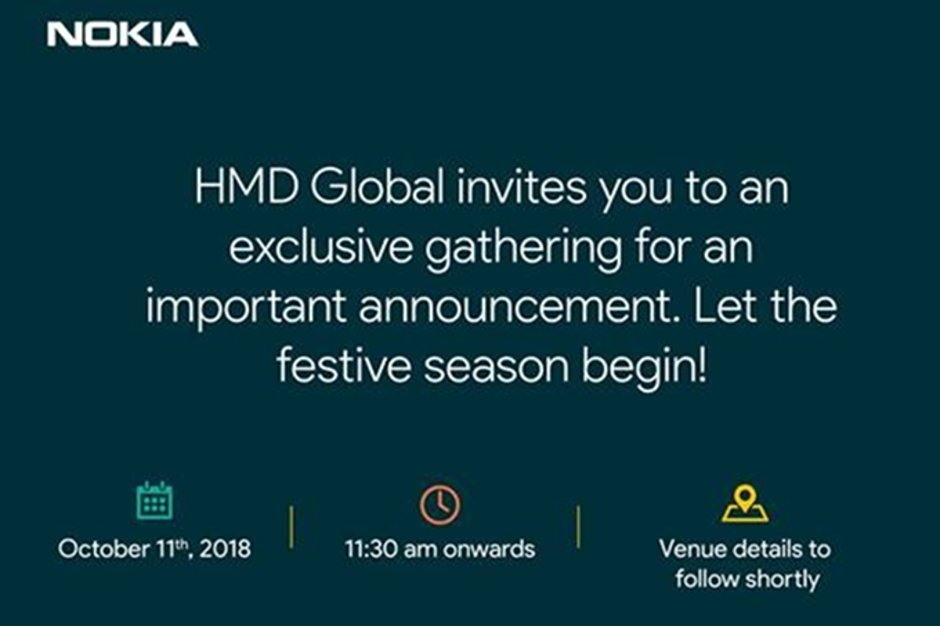 HMD Global Sends Invite for October 11th Event