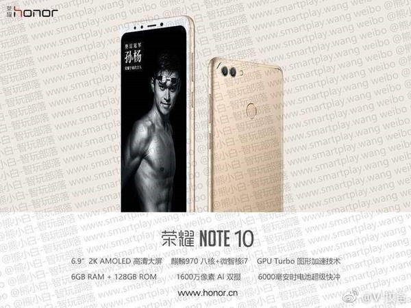 Huawei Honor Note 10 images and specs leaked