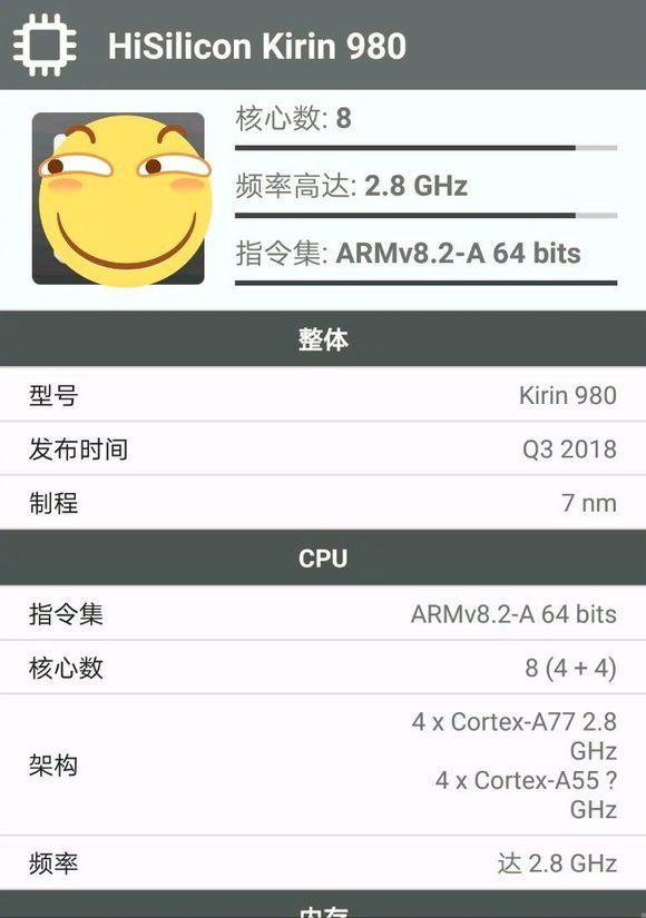 Huawei Kirin 980 Especificaciones completas filtradas