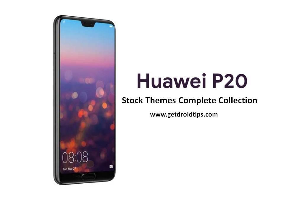 Instalar temas de stock de Huawei P20 para todos los dispositivos Huawei