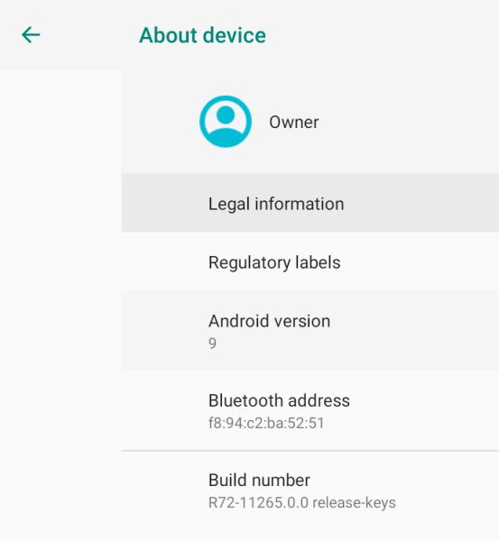 Actualización de Chrome OS Android 9