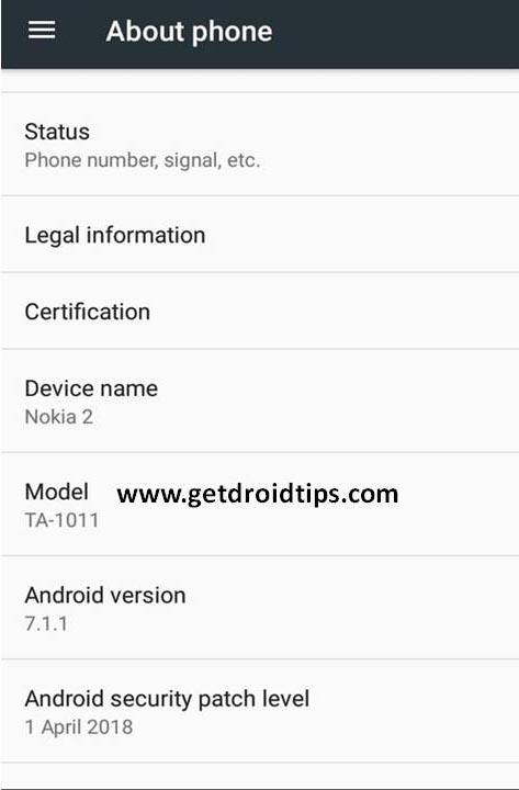 Nokia 2 de abril de 2018 Parche de seguridad