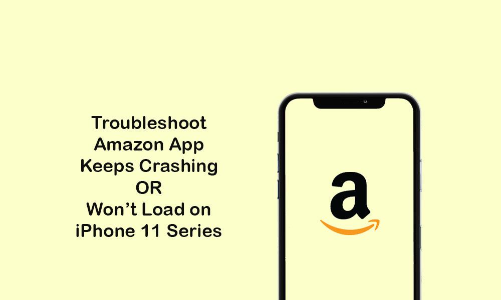 Amazon shopping app keeps crashing or won