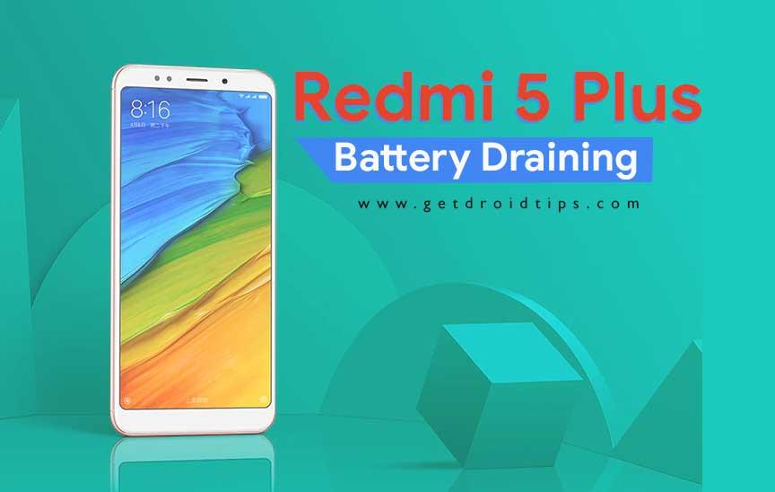 La batería se agota rápidamente: cómo reparar en Redmi 5 Plus