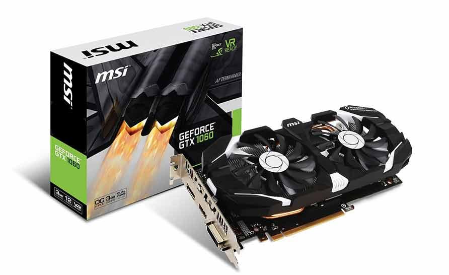 Tarjeta gráfica MSI Geforce GTX 1060 3GB GDDR5