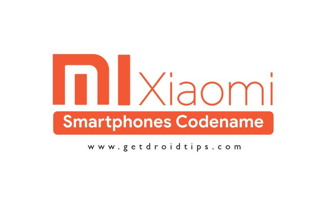 Lista de nombres de teléfonos inteligentes Xiaomi