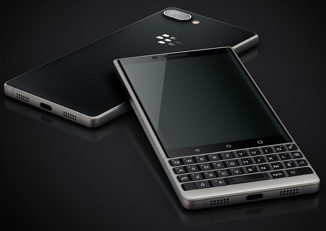 Render oficial de BlackBerry KEY2